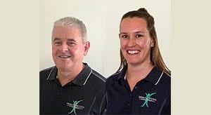 New massage therapists – Peter Mitchell and Alita White